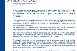 Corretta Gestione di Gas Refrigeranti Estratti dagli Impianti - la posizione di Federchimica/Assogastecnici