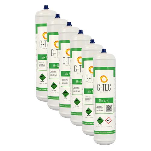 Bombola G-MIX - miscela cercafughe AZOTO IDROGENO (AZOIDRO) da 0,95 litri/0,105 mc - conf.ne 6 pezzi