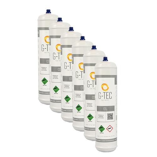 Anidride Carbonica CO2 - Bombola G-CO2 da 0,95 litri / 390 grammi - confezione 6 pezzi