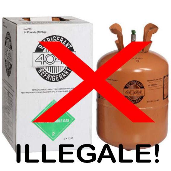 Commercializzazione illegale e divieto di utilizzo di contenitori non ricaricabili, contenenti gas refrigeranti HFC ad effetto serra