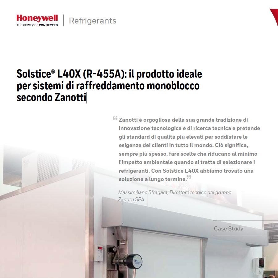 Solstice® L40X (R-455A): il prodotto ideale per sistemi di raffreddamento monoblocco secondo Zanotti