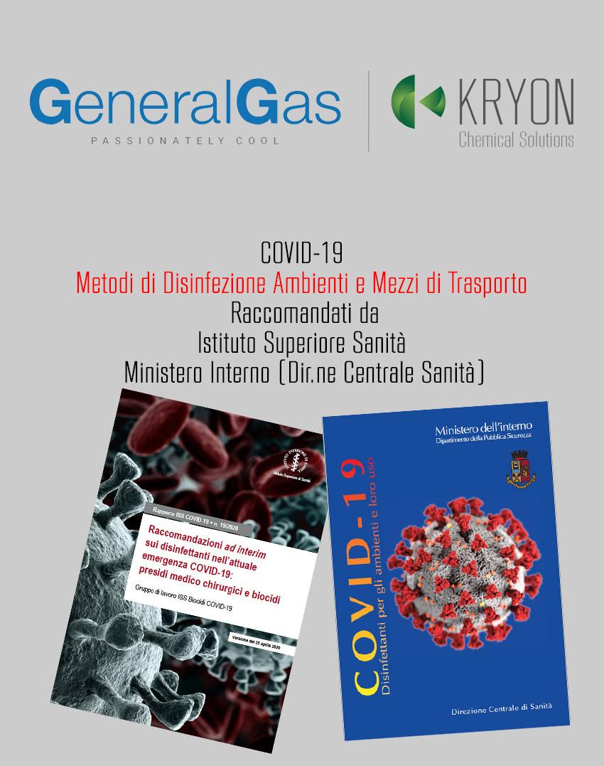 COVID-19: indicazioni ufficiali Istituto Superiore Sanità e Ministero Interno sui metodi di disinfezione ambienti e mezzi di trasporto