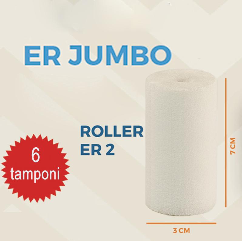 Brasotek - 6 x ROLLER ER2 JUMBO - Kit ricambi composto da 6 tamponi grandi (per flacone 40 ml)